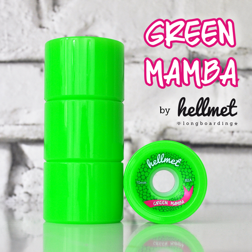 Green Mamba longboard wheels neon green 70mm