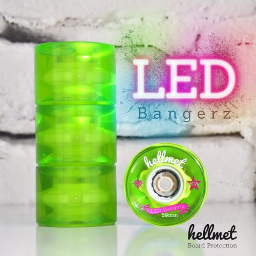 LED Bangerz Longboard Wheels neon green 59mm